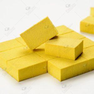 Borracha extra macia amarela 4 a 8 shore 32x22x14mm